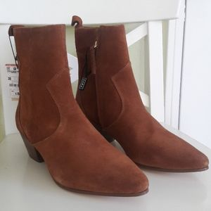 NWT Zara Leather Booties
